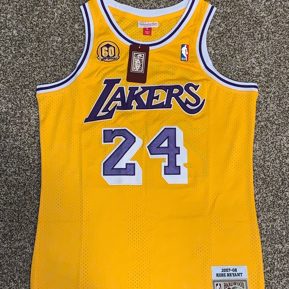 d781e3cec Kobe Bryant 2007-08 Lakers 60th Throwback Jersey! NWT. Mitchell   Ness